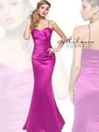 Satin Fishtail Bridesmaid Dress