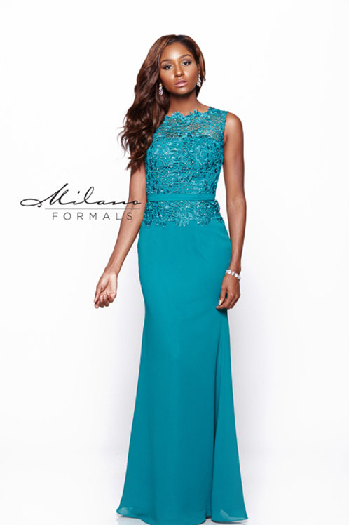 Chiffon and Lace Bridesmaid Dress