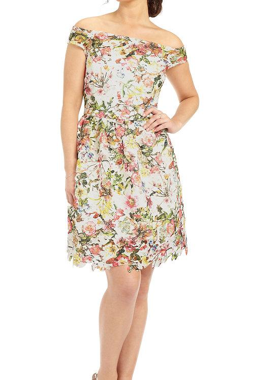 Cece Flower Print Occasion Dress