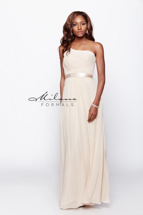 One Shoulder Chiffon Bridesmaid Dress