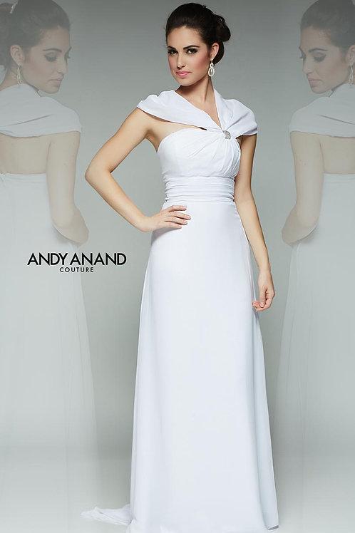 Elegant Wedding Dress with Draped Shoulders