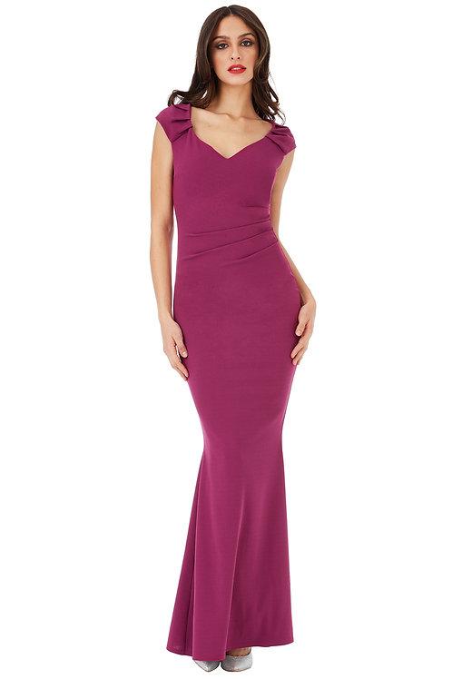 Cap Sleeved Maxi Dress
