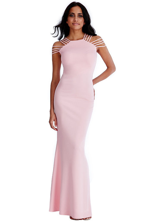 Multi-Strap Stretch Evening Dress