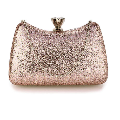 Pink Crystal Clutch Bag