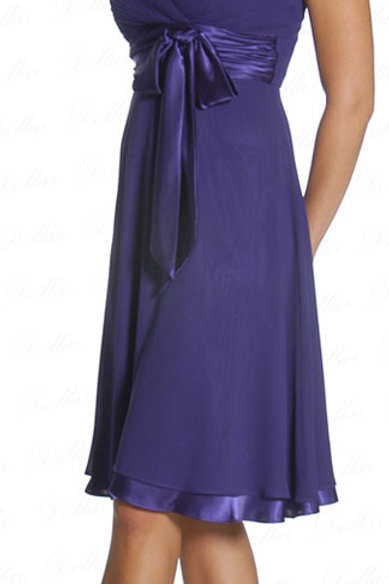 Occasion Dress with Double Spaghetti Straps and Shirred Bodice