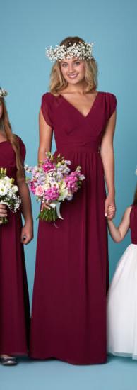 Linzi Jay Burgundy Bridesmaid Set