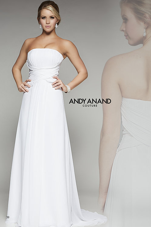 Wedding Dress with Ruched Bodice and Waist