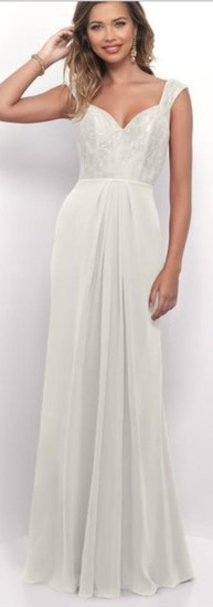 Simple Ivory Chiffon Dress by Alexia
