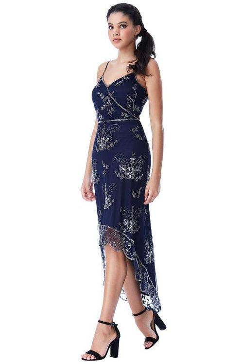High Low Sequin Dress