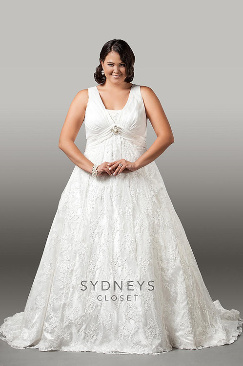 Chiffon and Lace Empire Bridal Gown