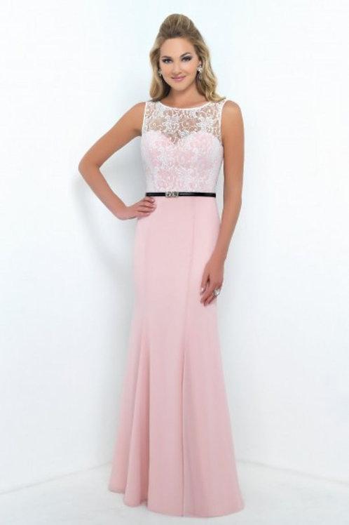 Two Tone Lace Bodice Bridesmaid Dress