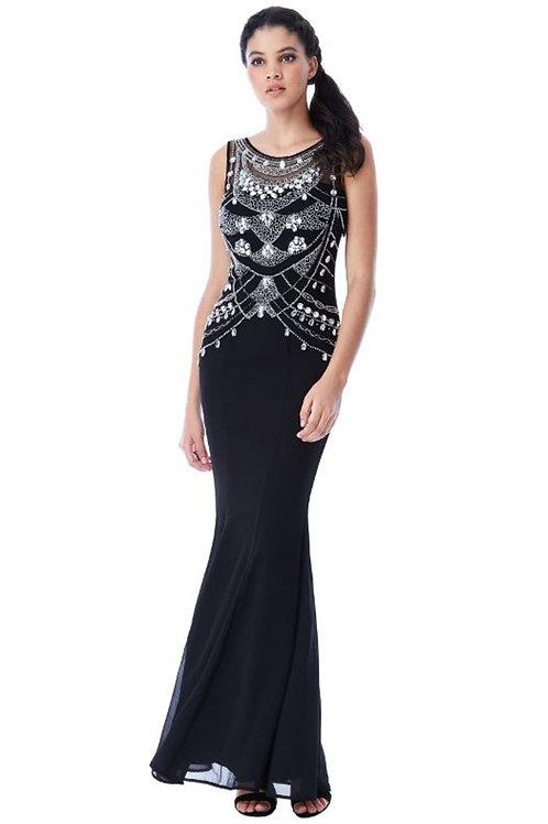 Gem Embellished Evening Dress
