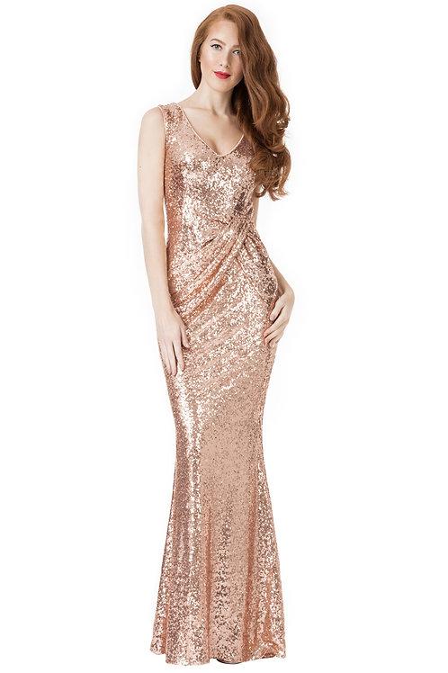 Gold Glitter Bridesmaid  / Evening Dress