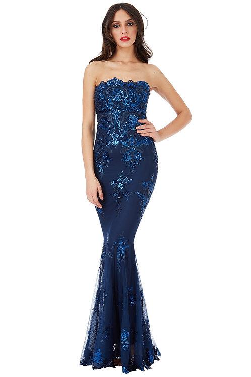 Strapless Sequin Evening/Prom Dress