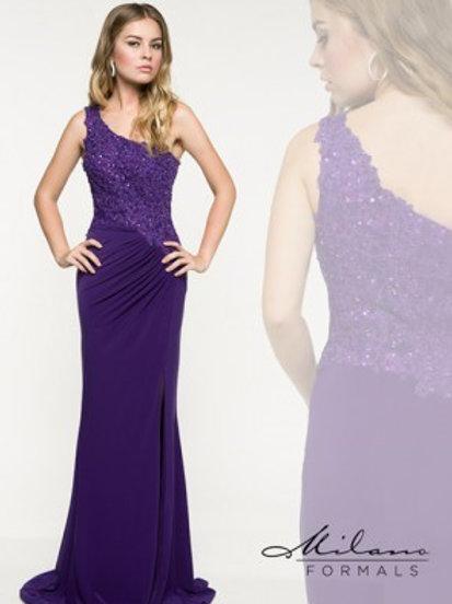One Shoulder Jersey Evening Dress