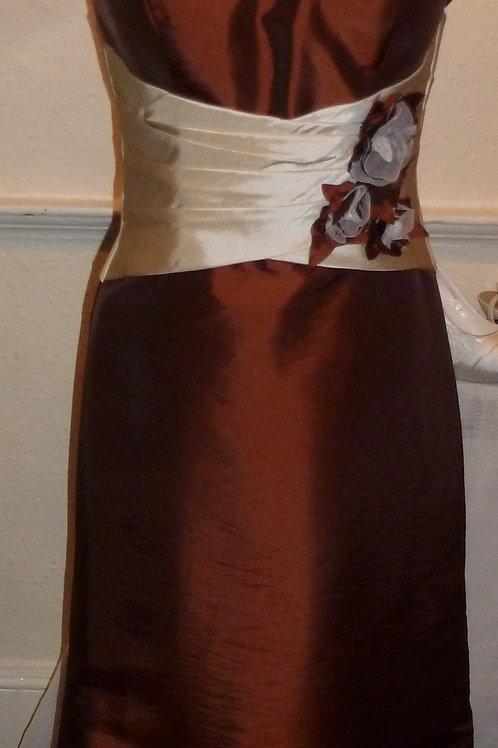 Contrasting Full Length Taffeta Dress with Jacket