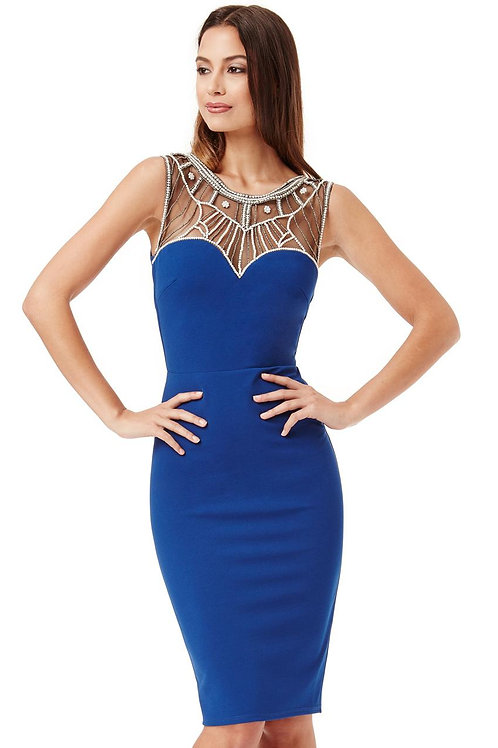 Fitted Occasion Dress with Decorative Top