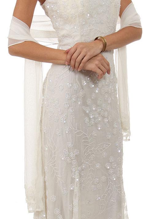 Silk Chiffon Beaded Wedding Dress