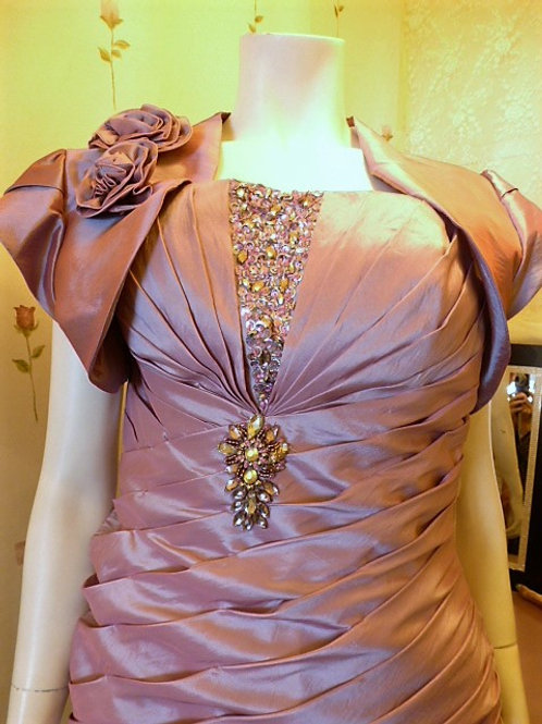 Ruffled Mother-of-the-Bride/Groom Dress
