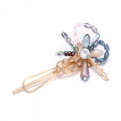 Peach Crystal Hair Pin