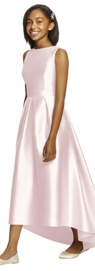 Dessy Junior Bridesmaid in blush