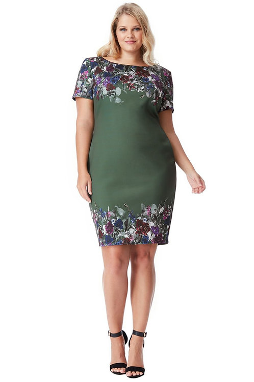 Plus Size Short Sleeved Dress