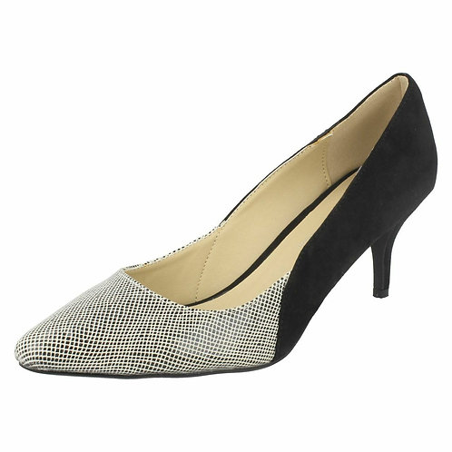 Snake Print Court Shoes