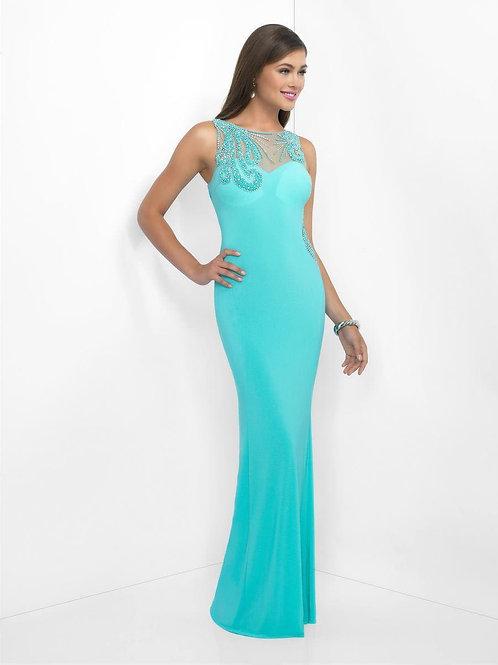 Sleek Rhinestone Prom Dress