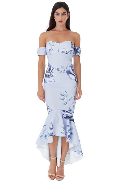 Fishtail Floral Occasion Dress