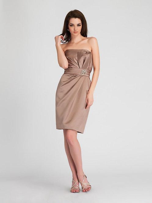 Strapless Satin Occasion Dress