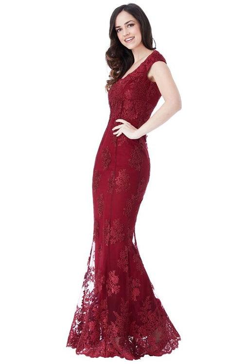 Stephanie Pratt Lace Fishtail Evening Dress