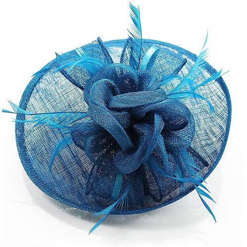 Teal Hat Fascinator