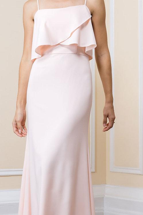 Flutter Top Full Length Dress