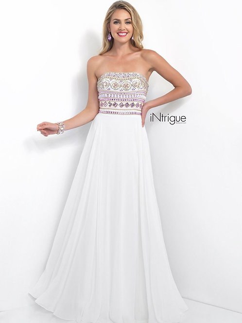 White Strapless Intrigue Dress by Blush Prom