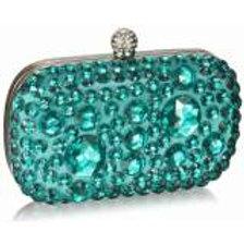Emerald Crystal Clutch Bag