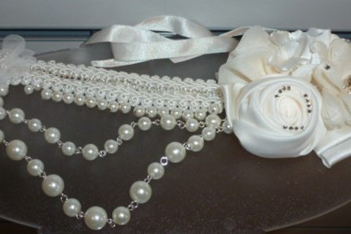Lace and Pearl Necklace