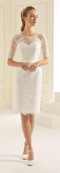 Biancoevento Greta knee length dress