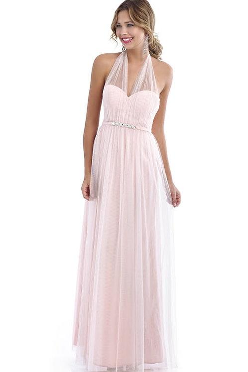 Tulle Dress with Beaded Waistband
