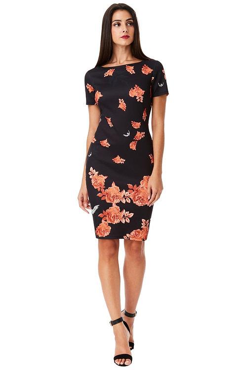 Short Sleeved Print Dress