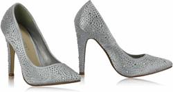 Silver Diamante Stillettos