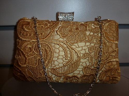Gold Lace Clutch Bag