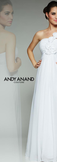Bohemian White Wedding Dress by Andy Anand