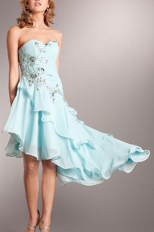 Strapless Chiffon Cocktail Dress