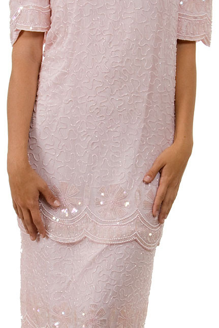 Formal Mother-of-the-Bride Silk Occasion Dress