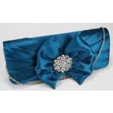 Clutch Bag With Diamante Decoration