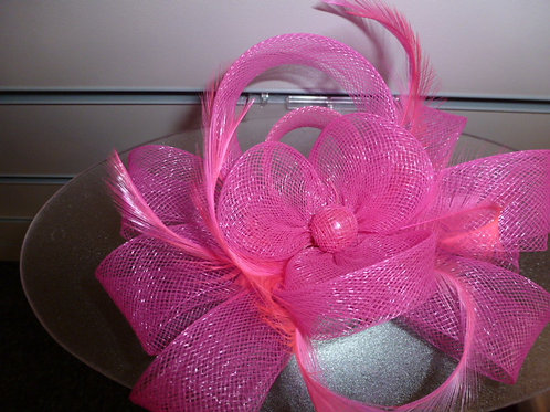 Feather and Mesh Fascinator