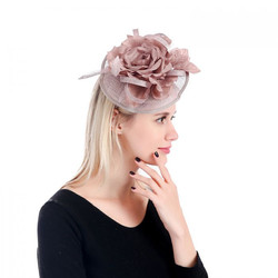 Taupe Fascinator on a Headband