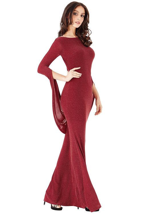 Full length Glittery Dress with Open Back