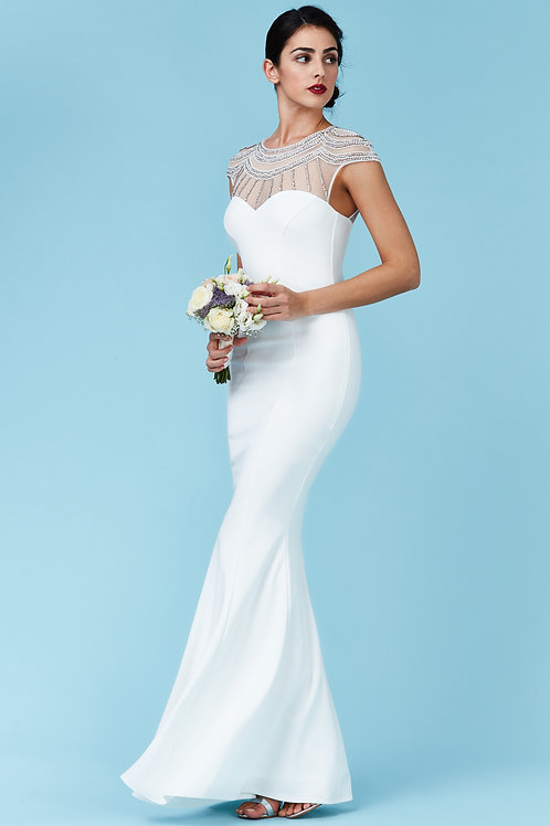 Simple Fishtail Wedding or Prom Dress
