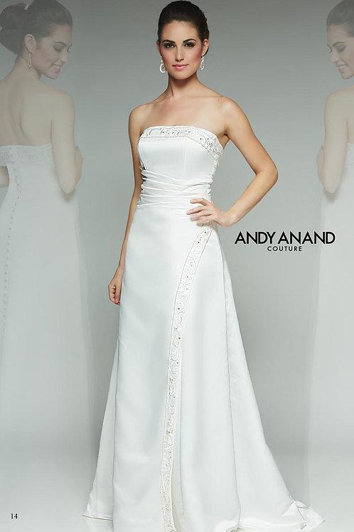 Strapless Satin Wedding Dress